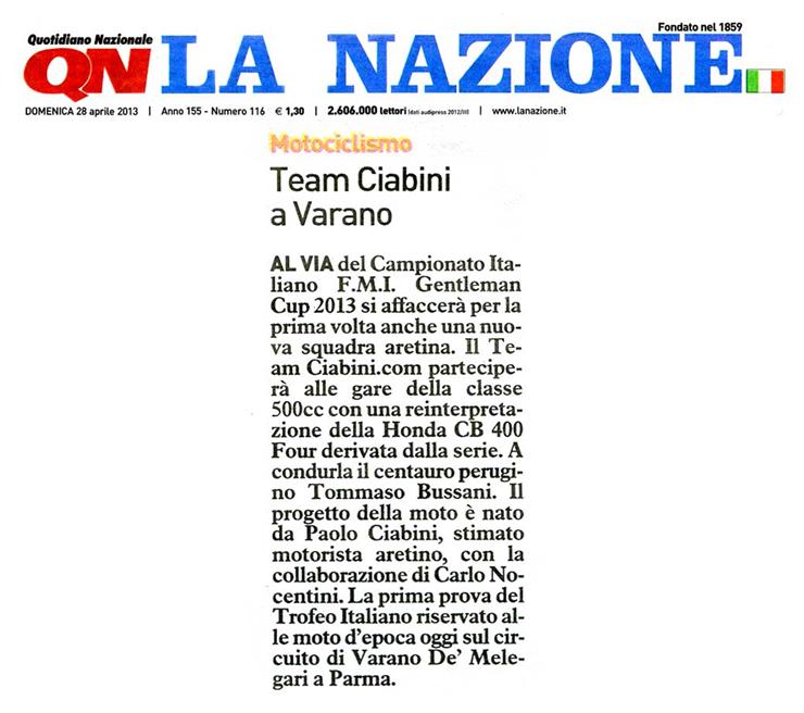 La Nazione 28-04-2013