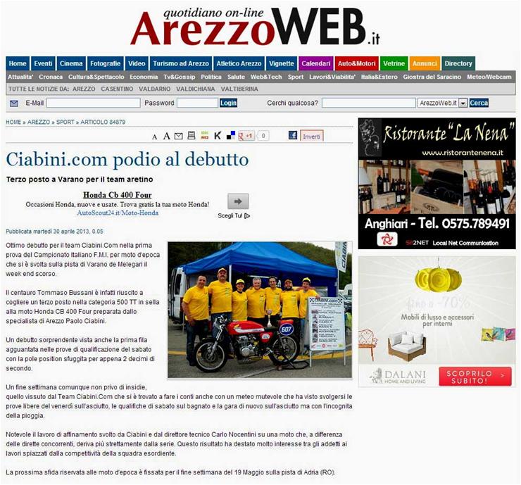 Arezzo Web  30-04-2013